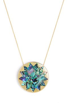 House of Harlow 1960 Sunburst Abalone Pendant Necklace | Nordstrom