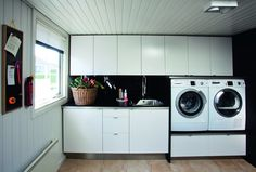Billedresultat for silvan bryggers Laundry Cabinets, Small Toilet, Laundry Room Design, Laundry Rooms, Shared Rooms, Mudroom, Washing Machine, Home Appliances, Interior Design
