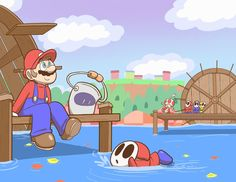 Please don't let the Cute little Shy Guy drown...