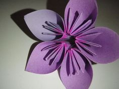 Flower Origami with Post It Notes
