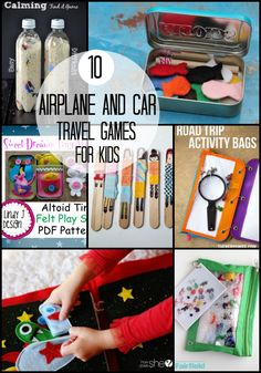 10 Airplane and Car Travel Games for Kids |  Summer vacations are so much fun except for the car or plane rides.  Here is a list of fun kids ideas.