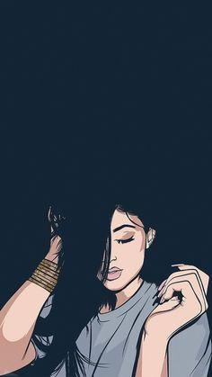 Girly Art Wallpapers - My Wallpapers Cute Love Wallpapers, Cute Girl Wallpaper, Cute Wallpaper For Phone, Cute Disney Wallpaper, Cute Wallpaper Backgrounds, Cute Cartoon Wallpapers, Vintage Wallpapers, Girly Drawings, Art Drawings Sketches Simple