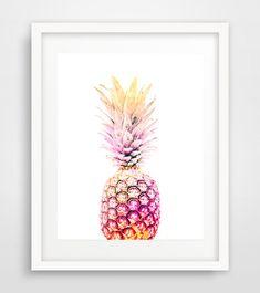 Pineapple print pineapple wall print pineapple wall by Ikonolexi