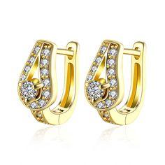 Water Drop Shape Diamond Clip On Earrings