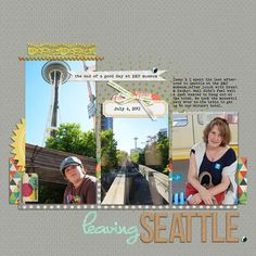 #papercraft #Scrapbook #layout.  How to Push Your Scrapbook Page Color Scheme Story  | Debbie Hodge | Get It Scrapped