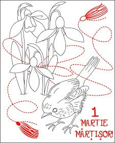 Nicole's Free Coloring Pages Spring Coloring Pages, Free Coloring Pages, Printable Coloring, Coloring Books, Color By Number Printable, 8 Martie, Mysterious Girl, Santa Letter, Red Berries
