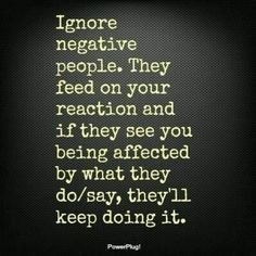 Avoid negativity. Love free & happy.