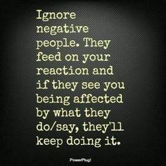 Avoid negativity. Love free & happy.