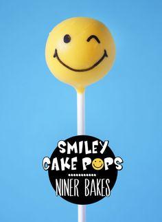 Glückliche Gesichter! Happy Smiley Cake Pops Tutorial | niner bakes