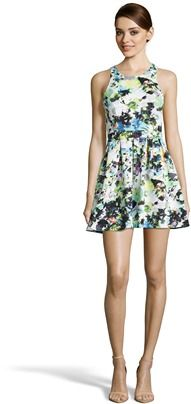 Romeo & Juliet Couture  Floral Back Cut-out Dress