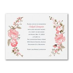40% OFF  Pretty Roses - Bridal Shower Invitation  http://mediaplus.carlsoncraft.com/Wedding/Bridal-Shower-Invitations/3254-TWS37558-Pretty-Roses--Bridal-Shower-Invitation.pro