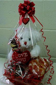 romantic-gift-basket-ideas-love-is-life-romantic-gifts-and-ideas-gift-baskets-valentine. Valentines Day Baskets, Valentines Day Gifts For Him, Valentines Day Decorations, Valentine Day Crafts, Candy Gift Baskets, Valentine's Day Gift Baskets, Candy Gifts, Basket Gift, Cadeau St Valentin