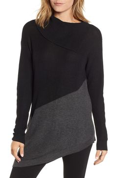 4765542533128 Free shipping and returns on Vince Camuto Asymmetrical Colorblock Tunic  Sweater at Nordstrom.com. With a diagonal slant and a mix of two hues