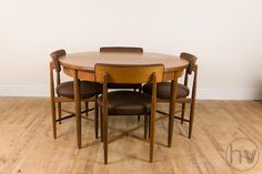 Vintage Retro G Plan Fresco Teak Extending Dining Table And 4 Chairs
