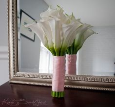 Wedding Bouquet Large Ivory Calla Lily Blush Pink by KateSaidYes, $75.00