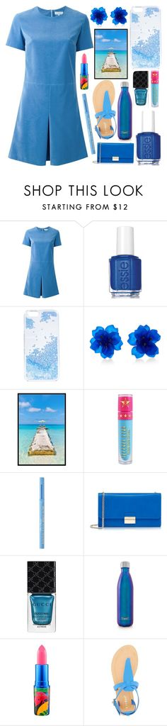 """By My Little Sister !"" by creating-outfits ❤ liked on Polyvore featuring Carven, Essie, Skinnydip, Matthew&Melka, Bora Bora, Jeffree Star, Too Faced Cosmetics, Furla, Gucci and S'well"