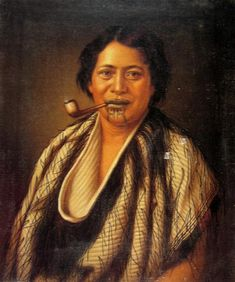 A Maori Woman Smoking a Pipe. Oil on canvas, unframed, 68 x 56 cm. Gorgeous picture, and she has a Tā moko. I know my Kiwis. I love my Kiwis :) Polynesian People, Polynesian Art, Maori Legends, Maori Symbols, Samoan Tribal, Filipino Tribal, Hawaiian Tribal, Hawaiian Tattoo, Maori People