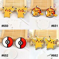 50pcs/lot Mixed Japanese Cartoon Pokemon Go Flatback Resin Kawaii Planar Resin Craft for DIY Home Decoration Accessories