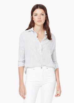 Striped cotton shirt - Women  4aab0b9aa6930