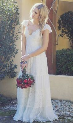 My (for now) perfect wedding gown. Lacy, innocent, and altogether beautiful. By Grace Loves Lace.