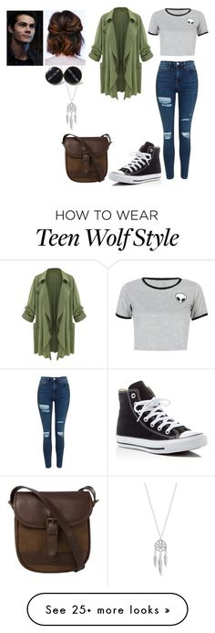 """Stiles younger sister #2 -TW -"" by madeinchina03 on Polyvore featuring WithChic, Topshop, Lucky Brand, Converse and DUBARRY"