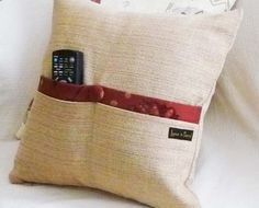 POCKET PILLOW  For Super Organized Space by PillowThrowDecor