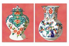 Coral Fourmaintraux Vases Diptych