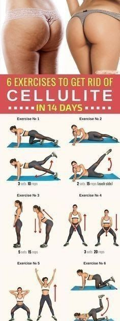 Health And Fitness: 6 effective exercises to get rid of cellulite, designed to tighten the muscles and reduce the thighs and buttocks. by jeanne Fitness Workouts, Fitness Motivation, Sport Fitness, Butt Workout, Fitness Diet, Fitness Goals, Health Fitness, Cellulite Workout, 2 Week Workout