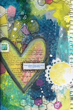 Ronda Palazzari Find Release Art Journal Page