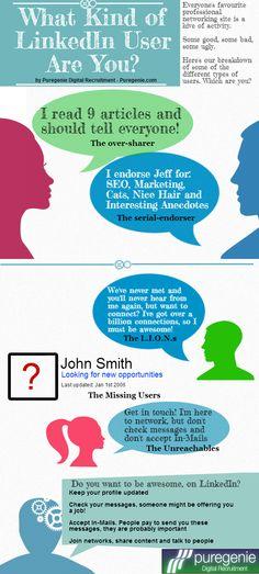 Qué tipo de usuario de Linkedin eres tu #infografia #infographic #socialmedia