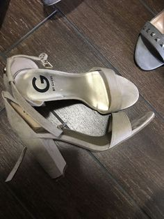 b3d3d266e77a Womens Nude Leather Ankle Strap High Heel Sandals Size 8.5  fashion   clothing  shoes