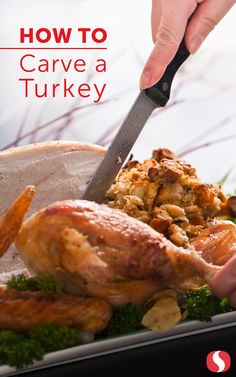 This Thanksgiving, get the most meat and the prettiest presentation from your turkey with these simple and easy steps. Thanksgiving Recipes, Holiday Recipes, Thanksgiving Feast, Holiday Meals, Turkey Cooking Times, Carving A Turkey, Food Journal, Recipe Journal, Dessert For Dinner