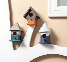Modern Colorbocked DIY Birdhouses