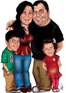 Caricatura Digital Claudia e Família    http://www.jessicaguedes.com