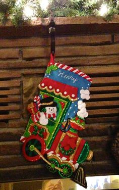 Candy Express Stocking Kit by Bucilla!  This may be a good one for Caleb.