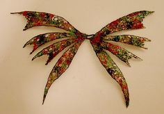 Fairy Wings-Harlequin-OOAK-Sized for Dolls & Bears(These Wings Are Made By Request) by chloe6788 on Etsy https://www.etsy.com/listing/81415681/fairy-wings-harlequin-ooak-sized-for