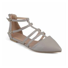 de596194f3 Journee Collection Womens Dorsy Ballet Flats Buckle Pointed Toe