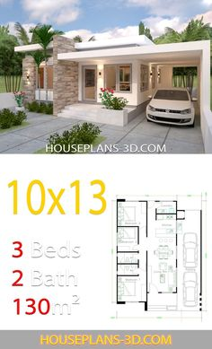 Tiny house is ready for shipping House Design with 3 Bedrooms Full Plans i. Tiny house is ready for shipping House Design with 3 Bedrooms Full Plans in 2020 . Simple House Design, House Front Design, Modern House Design, Simple Bungalow House Designs, Modern Bungalow House Design, Modern Bungalow Exterior, Modern House Facades, Minimalist House Design, Model House Plan