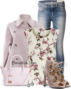 purple wool coat spring polyvore outfit bmodish