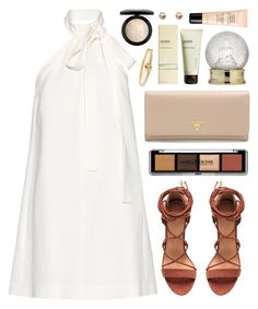 """Saffiano"" by sophiehackett ❤ liked on Polyvore featuring Chloé, Guerlain, Prada, MAC Cosmetics, Ahava, Carelle and River Island"