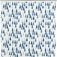 "Shop Marimekko Iso Pisaroi Shower Curtain.  Oversized raindrops (""pisaroi"" in Finnish) rain beautiful shades of green and blue on white in Maija Louekari's delightful design that's casual, clean and timeless."