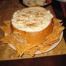 Joelle's Famous Hot Crab and Artichoke Dip - has horseradish in it!