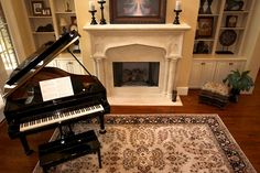 Jolin's Photos and Stories: Beautiful Room Friday/ Elegant Piano Room House Rooms, Home Library, Small Living Room, Grand Piano Room, Piano Living Rooms, Living Room Seating, Small Room Design, Piano Room, Living Room Furniture