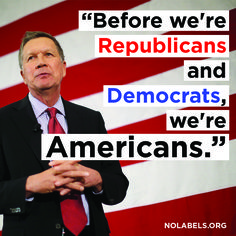 Well said, Gov. Kasich. To truly solve the nation's problems, we need political leaders to put country before party. nolabels.org