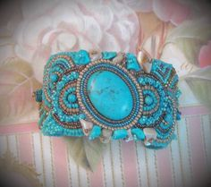 Bead embroidery cuffs - Google Search