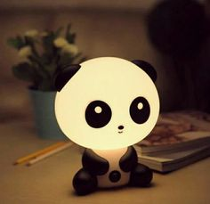 panda nightlight that is basically the cutest thing ever. A panda nightlight that is basically the cutest thing ever. Panda Love, Cute Panda, Panda Panda, Cute Night Lights, Baby Room Lighting, Kawaii Room, Cute Room Decor, Cutest Thing Ever, Room Lights