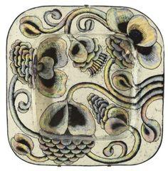 Birger Kaipiainen, Finland Folk Art Flowers, Flower Art, Ceramic Wall Art, Ceramic Pottery, Clay Tiles, Sgraffito, Naive Art, Vintage Pottery, Ceramic Artists