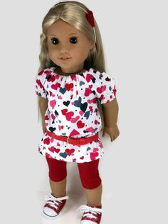 American Girl Doll Clothes 18 Inch Doll by ZigZagFashions on Etsy