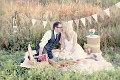 Simply Sweet And Stylish Picnic Engagement Shoot | Bridal Musings | A Chic and Unique Wedding Blog