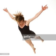 Stock Photo : Woman falling against white background